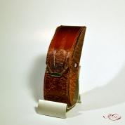 Кожаный Футляр для очков с тиснением № 533-2