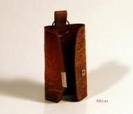 Кожаный Футляр для ключей с тиснением № 241