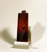 Кожаный Футляр для ключей с тиснением № 241-2