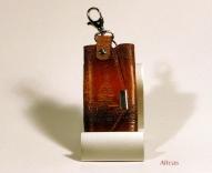 Кожаный Футляр для ключей с тиснением № 247