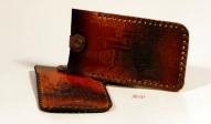 Кожаный Футляр для ключей с тиснением № 251