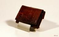 Кожаный кошелёк с тиснением № 579