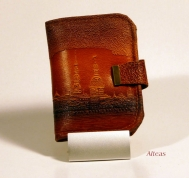Кожаный кошелёк с тиснением № 580