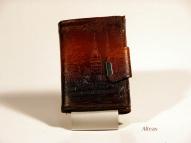 Кожаный кошелёк с тиснением № 581