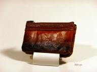 Кожаный кошелёк с тиснением № 582