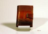 Кожаный кошелёк с тиснением № 583
