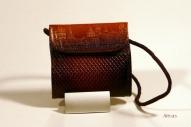 Кожаный кошелёк с тиснением № 584