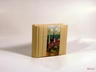Кожаный Фото альбом с тиснением  № F3