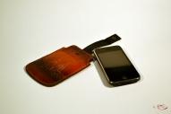 Кожаный Футляр для мобильного телефона с тиснением № 526